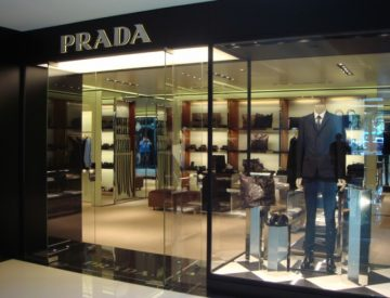 中國西安市中大國際名品廣場Prada